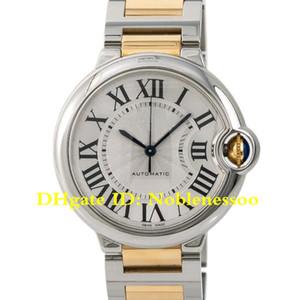 7 Цвет унисекс роскошные мужские женские Серебряный циферблат двухцветный SS 18K YG 36 мм W2BB0012 W69003Z2 W69004Z2 римские автоматические часы