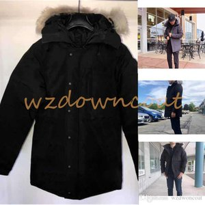 High quality winter Men Down Jackets Parka Homme Outerwear real wolf Fur Hooded Manteau Canada Down Jacket Coat