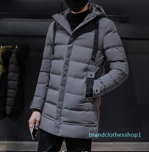 Fashion-New Winter Jackets Men Casual Long Thick Winter Coat Men Solid Parka Male Clothes Overcoat Outerwear