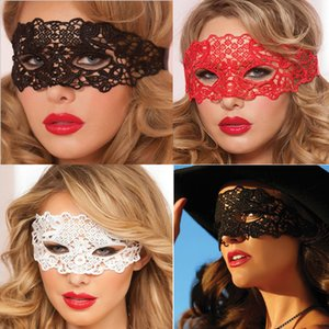 Половина лица Red Zorro Sexy кружева маска партии Ночной клуб Fun Eye Mask Маска Halloween Masquerade Бесплатная доставка