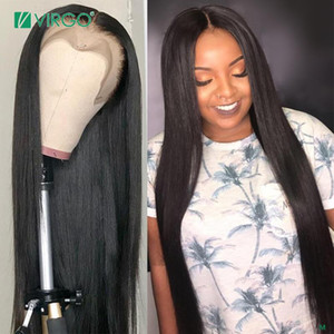 Virgo Straight Lace Front Wig 8-26 Inch Malaysia 13x6 Transparent Lace Front Human Hair Wigs For Black Women 150% Density Remy