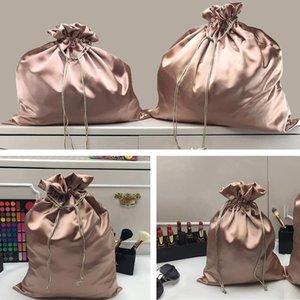 Accessories Dustproof Storage Bag Fashion Artificial Silk Home Use Handbag Travel With Drawstring Sundries Organizer Shoes Belt