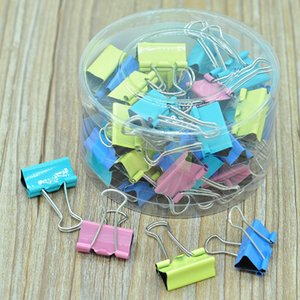 25mm Folder Clip Paper Note Clips Windproof Cloth Clamp Colorful Note File Retaining Clip for Organizing Household Helper