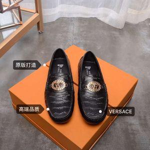 chaussures de haricots de mode en cuir automne printemps nouveaux hommes mode casual shore causales 010701