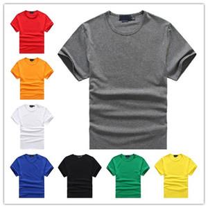 Los nuevos mens polo del algodón de las camisetas de la moda del bordado pequeño caballo ropa de manga corta de verano de alta calidad de las tapas ocasionales camiseta