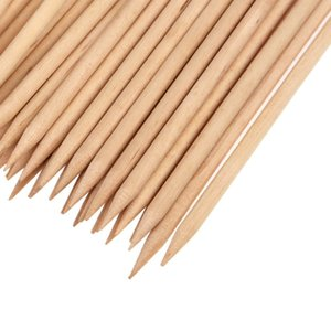 H13107 100pcs التي مسمار فن تصميم أورانج عصا خشبية البشرة مروج المخدرات مزيل العناية مانيكير الأظافر الفنية أدوات زينة