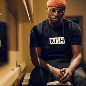 19SS KT T da letra do Moda Casual T-shirt Hip-hop soltas T letra impressa Highstreet Homens Mulheres Verão Tee HFYMTX002