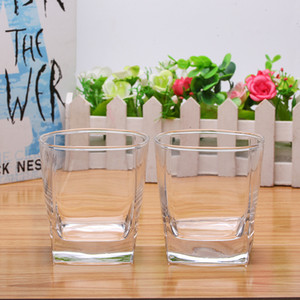 Promotion Customizable Smooth Mouth Cup Rim 260ml Glass Cup Food Grade Lead-free Wine Whiskey Thicken Bottom Sleek Bar Mug Cup DH0538 T03