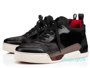 Alta calidad AURELIEN rojos zapatos inferiores para los hombres la zapatilla de deporte Deportes zapatos planos AURELIEN las zapatillas de deporte del regalo de boda del cumpleaños TY-84