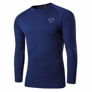 Jeansian Männer UPF 50+ UV-Sonnenschutz im Freien Langarm-T-Shirt T-Shirt T-Shirt Strand-Sommer-LA245 Navy2 Y200104