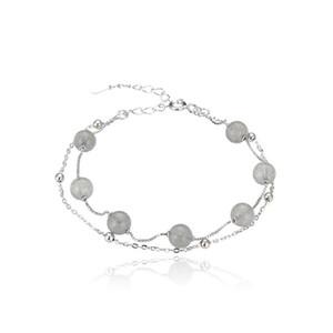 Y S925 Sterling Silver Bracelet Natural Crystal Green Strawberry Crystal Bracelet Chinese-Style Bracelet Female Mori Fresh One Moq1