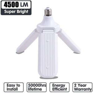 Folding Leaf Lamp 45W E27 LED lampadina SMD2835 228leds Super Bright pieghevole Fan Angle lama regolabile Lampada da soffitto per la casa a risparmio energetico luci