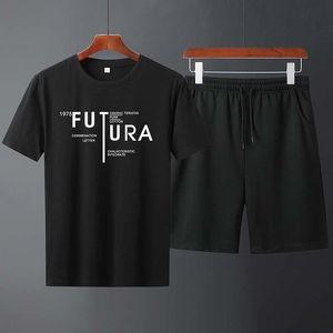 2020 new summer men's short-sleeved suit sportswear slim casual sports half-sleeved printed T-shirt designer jogging sportswear