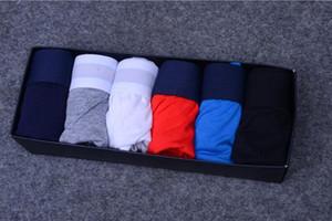 Keine Box 5 teile / los Mann Boxer Mens Unterwäsche Kurze sexy Unterwäsche Lässig Kurzmann Mode Atmungsaktive Penis Männliche Schwule Unterwäsche Shorts