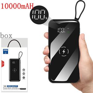 Real 10000mAh cargador inalámbrico QI banco de la energía para el iPhone 11 11Pro máximo el Powerbank Samsung Dual USB cargador del banco de baterías externas inalámbrico