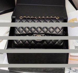 VANNOGG Üst Kalite Kuzu derisi Siyah Klasik Zinciri Flap Çanta Kadınlar Omuz Çantası Kadın Crossbody Çanta Marka Cüzdanlar Çanta Tasarımcısı zinciri çantası