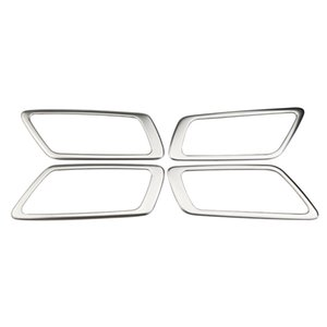 Zlord Stainless Steel Car Interior Door Handle Trim Inner Door Bowl Circle Cover Sticker for Toyota C-HR CHR 2016 - 2018