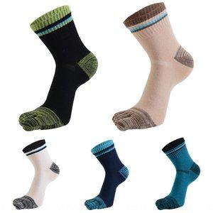 tHtP7 Sports business leisure five finger socks Sports business leisure sweat absorption men's pure cotton medium 32s cotton comfortable swe