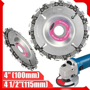 4 Inch Grinder Disc and Chain 22 Tooth Fine Cut Chain Set For 100 115 Angle Grinder 5 8 Inch Center Hole