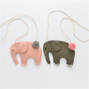 Kinder-Mädchen-Kind-Münzen-Geldbeutel-Beutel Hobos Mini kleiner nettes Baumwollgewebe Karikatur-Elefant koreanisches Zubehör Großhandel Geschenk