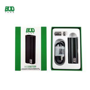 Original Budtank MOD3 Vape Box Mods 510 Thread Vape Pen Battery 390mAh Vaporizer Pen Auto Draw Micro USB e Cigarettes Vape Mods