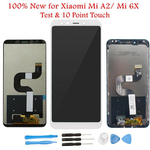 ORIWHIZ 100% Novo para Xiaomi Mi A2 Display LCD com Moldura Touch Screen Digitizer Sensor Display LCD para Xiaomi Mi 6X Substituir Peças de Reposição