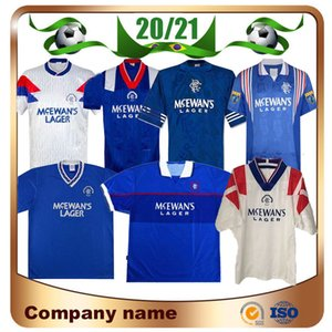 92/94 Glasgow Rangers maillots de football Rétro 96/97 / 98 99/01 # 8 Gascoigne # 11 Laudrup # 9 McCoist soccer Chemises # 3 Uniformes ALBERTZ Awayfootball