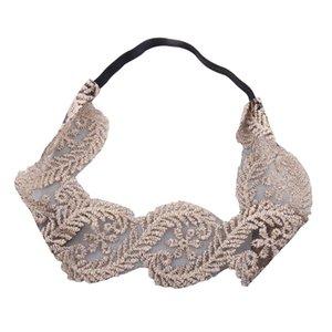 Las vendas bordado de encaje de flores chicas Macrame elegante elástico Hairbands del bebé Niños tocado de los niños Accesorios para el cabello HHA784