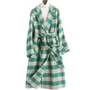 Primavera Autunno Cappotto di abbigliamento donna 2020 annata coreana di lana rivestimento lungo signore cappotti Casaco Feminino Abrigo Mujer ZT2796