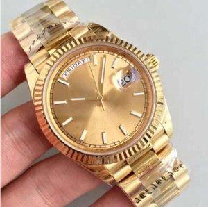 faible de haute qualité de Noël prix Mens Watch Montres Hommes Président Automatique bracelet cadran bleu Couronne fermoir Montres Hommes Design Partie
