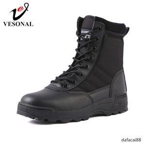 VESONAL Outono 2019 Botas Homem Sapatos Especial Força Tática Desert Combate militar outdoor mens rastreamento masculinos Bota tático trabalho T200305
