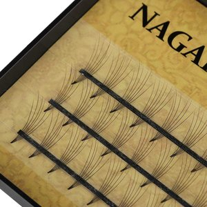 Pestañas de pelo de visón individuales hechas a mano 6D Volumen 0.07 C Negro 8 ~ 14 mm Extensión Natural Long Fake Eye Lashes Herramienta de maquillaje de ojos