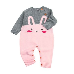 Горячие милые дети детские девочки мальчики очаровательны Кролик комбинезон свитер комбинезон пуловер наряды