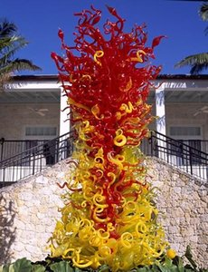 Sculpture Garden Villa Art Decoração Standing elegante Luxo Especial Grande Floor Lamp mão Escultura de vidro soprado soprado