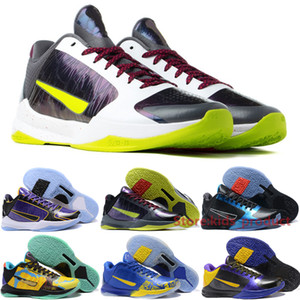 Bryant 5 V Protro Hommes Chaussures de basket pour les hommes Sneakers Chaos 2K Gamer exclusif Laker Prelude Dark Knight Marque Outdoor Formateurs Taille 40-46
