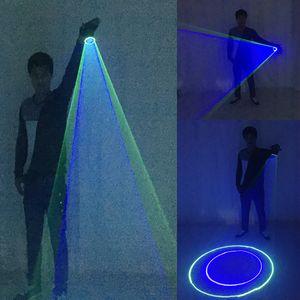 guanti laser di alta qualità di verde blu Handheld Cannon Rotating giroscopio palmo LED DJ Dancing Club Bar Partito Laser Show
