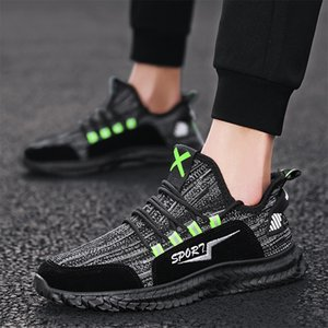 Hot style high-quality sports shoes men's shoes knitting breathable casual light mesh cloth dad running