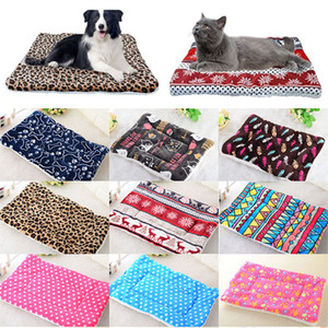 Dog Plush Bed Mat inverno quente filhote de cachorro Cat House Kennel Small Medium Large Dogs Camas de Natal Dormir Blanket pet Mat WX9-1822