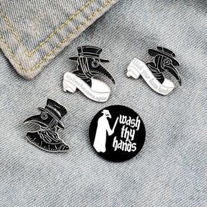 New Woodpecker estilo com chapéu broche animal com capuz ocidental cowboy pin combinação criativa Acessórios dos desenhos animados do estudante coreano lapela