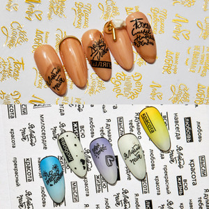 3D Nails Art Stickers on Nails Manicure Cartoon Cat Nail Design for Stickers for Decals Decoration Adhesive Foils