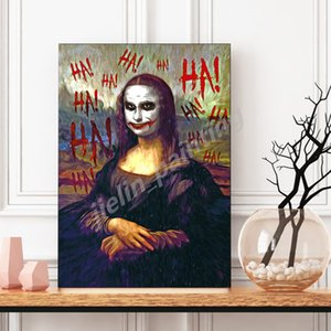 HD Duvar Tuval Poster Ve Baskı Tuval Dekoratif Resim İçin Salon Ev Dekorasyonu Boyama Joker Mona Lisa Pop Art Süper Kahraman