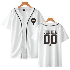 Mode Beliebte Naruto Baseball T-shirt Street Wear Anime T-shirt japanischen Männer / Frauen / Kinder Beliebte Casual Weiß Top