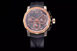V6 Admiral Cup Uhr (Armbanduhr), Uhr der Männer, Silikonband, ASIA7753 Timing automatische mechanische Bewegung, 44mm Durchmesser, dichter Boden
