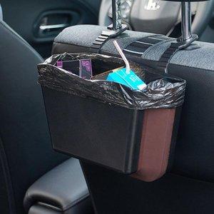 Trash ABS Car Can pieghevole Garbage Container poggiatesta fessura del sedile per Viaggiare