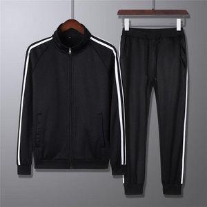 Designer Mens Long Sleeved Tops+pants Tracksuit Casual Sport Men's Wear Suit Cardign Zipper Set 3 Color Available Size M-4XL