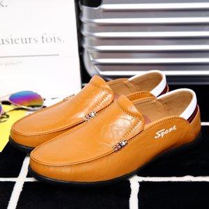 Attractive2019 Genuine Man Leather Freizeit Doug Xia Loukong Herren Set Foot Single Low Help Schuh