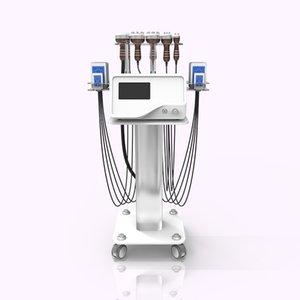 Ультразвуковая машина красоты Lipo Лазерная 6in1 40К RF кавитация Магнитная вибрация Вакуумная терапия Потеря веса тела машина для похудения
