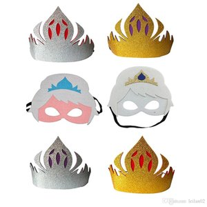 Kids Crown Frozen Superhelden Maske Filz Party Maskerade Maske Halloween Weihnachten Kostüme Top-Qualität Maskerade Masken Partei bevorzugt Geschenke
