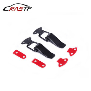 RASTP-Racing Car 2pcs Bumper Durable Gancho de Segurança Bloqueio Clipe Kit clipe Ferrolho para Auto capa Quick Release Fastener RS-ENL007