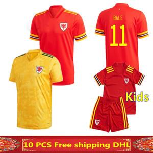2020 camiseta de fútbol de Gales 20 21 Hombre + niños BALA ALLEN James Wilson Ben Davies Camisetas hogar del equipo nacional de fútbol de Gales camisa